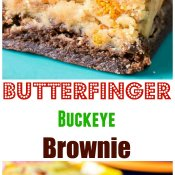 Butterfinger Buckeye Brownie