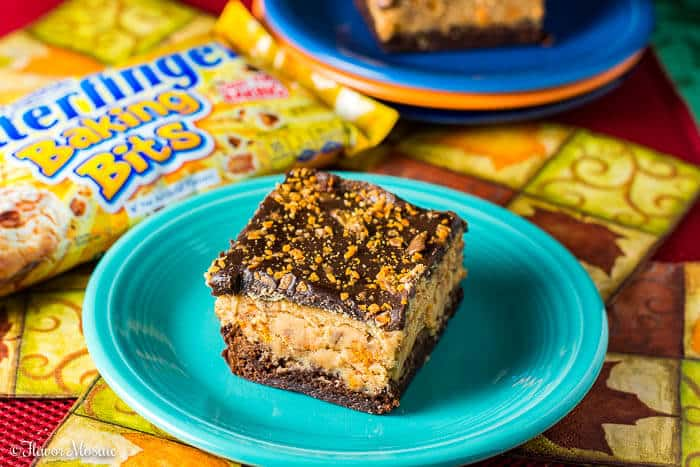 Butterfinger Buckeye Brownies Chocolate and Peanut Butter Dessert Bars - Flavor Mosaic