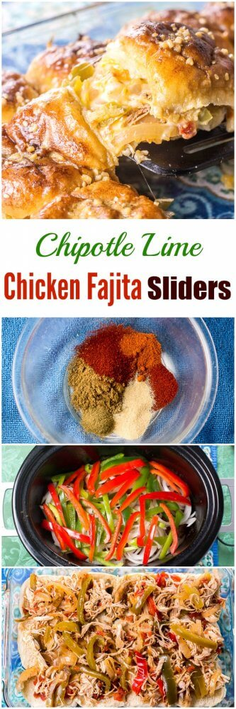 Chipotle Lime Chicken Fajita Sliders