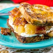 Apple Maple Bacon Stuffed French Toast