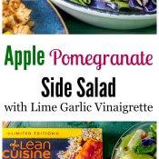 Apple Pomegranate Side Salad with Lime Garlic Vinaigrette