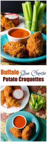 Buffalo Blue Cheese Potato Croquettes