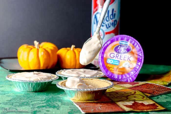 Ginger Pumpkin Mini Cheesecake Pies - Flavor Mosaic