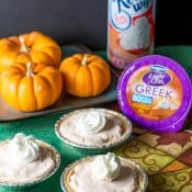Ginger Pumpkin Mini Cheesecake Pies
