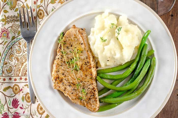 Lemon Thyme Pan Seared Turkey Breast Cutlets