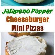 Jalapeno Popper Cheeseburger Mini Pizzas