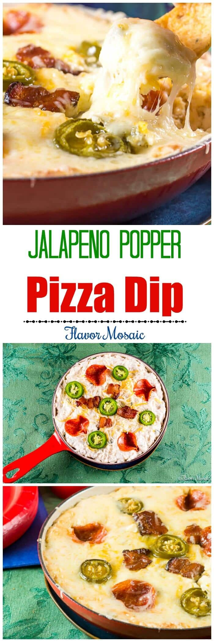 Jalapeno Popper Pizza Dip Long Pin by Flavor Mosaic