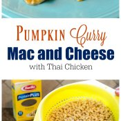 Pumpkin Curry Mac and Cheese with Thai Chicken