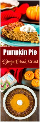 Pumpkin Pie with a Gingerbread Crust