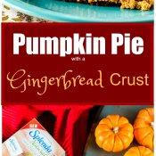 Pumpkin Pie with a Gingerbread Crust