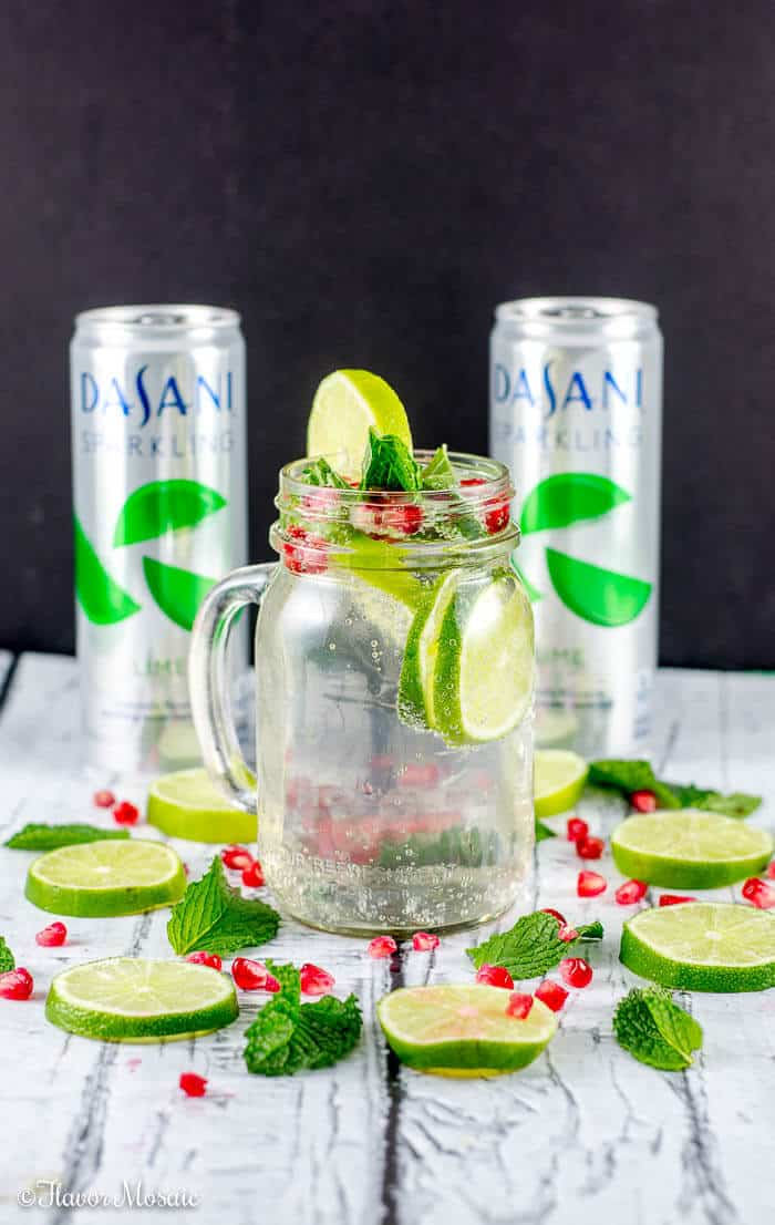... Mint Pomegranate Drink that is sure to make your holiday guests bubble