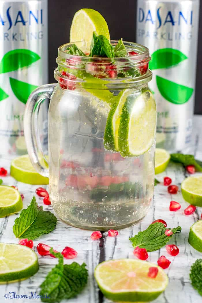 Sparkling Lime Mint Pomegranate Drink by Flavor Mosaic