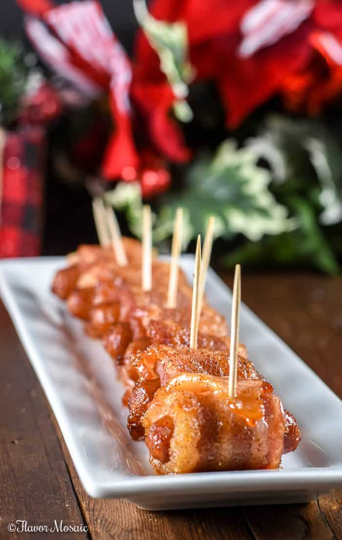 Bacon Wrapped Smokies {With Spicy Chipotle and Brown Sugar}