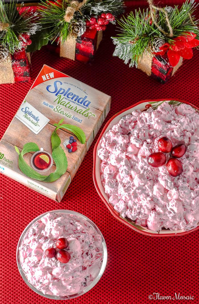 Cranberry Fluff Salad with Cranberries, Marshmallows and Pineapple