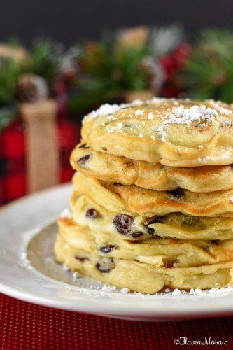 Cranberry White Chocolate Chip Pancakes