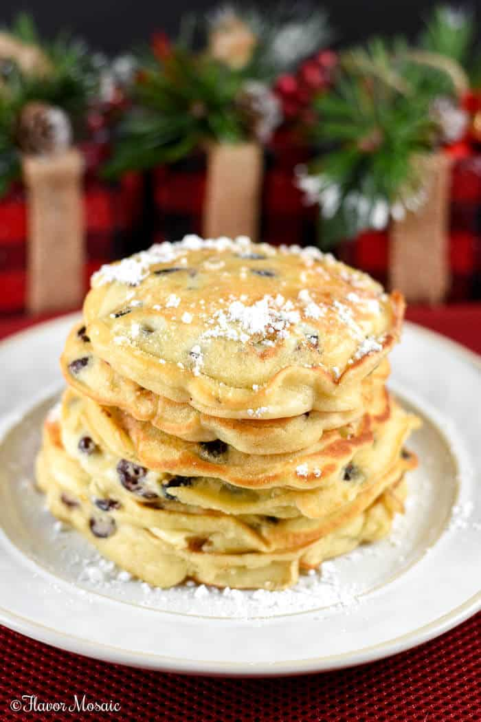 Cranberry White Chocolate Chip Pancakes