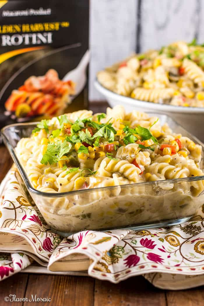Green Chile Chicken Pasta Recipe by Flavor Mosaic