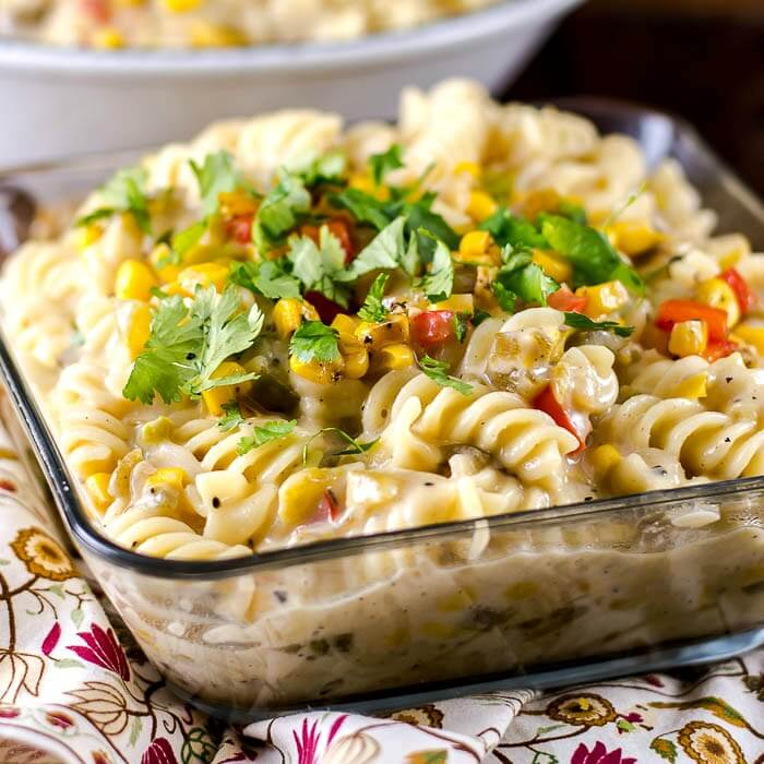 Green Chile Chicken Pasta