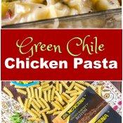 Green Chile Chicken Pasta Image Long Pin