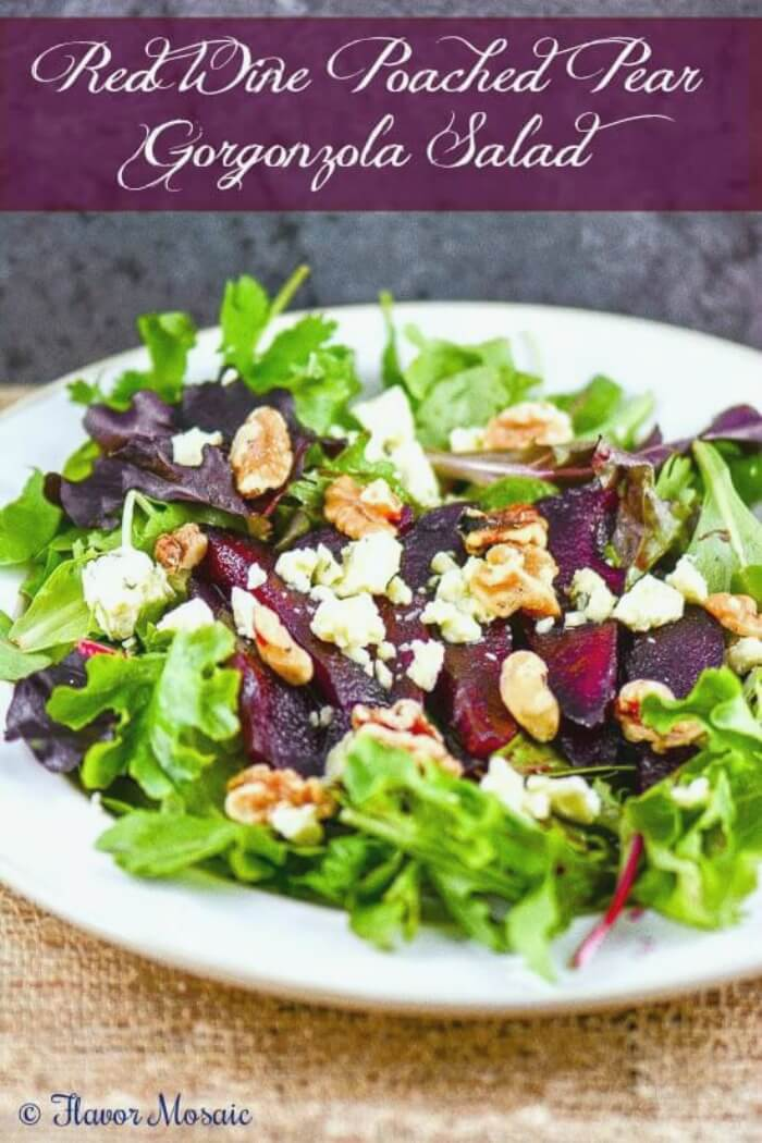 https://flavormosaic.com/red-wine-poached-pear-gorgonzola-salad/