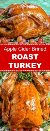 Apple Cider Brined Roast Turkey Long Pin Red Label