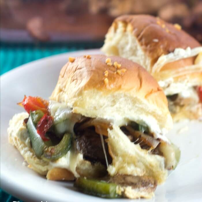 Jalapeno Popper Philly Cheesesteak Sliders