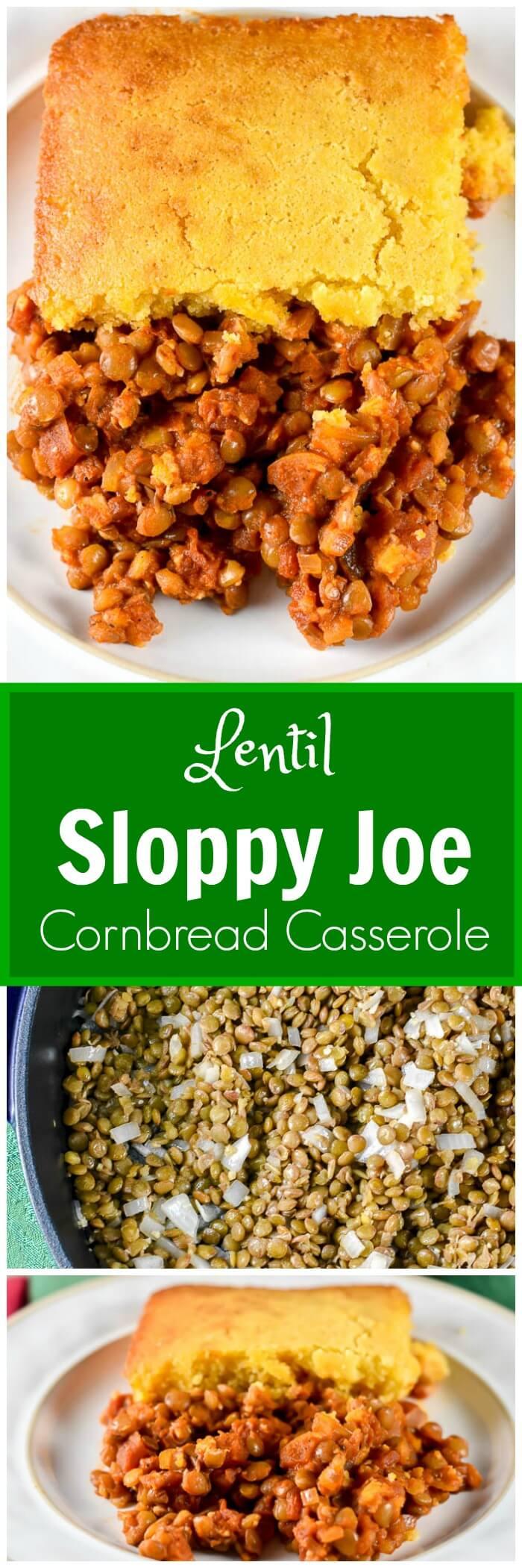 Lentil Sloppy Joe Cornbread