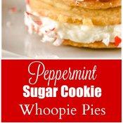 Peppermint Sugar Cookie Whoopie Pies Long Pin.
