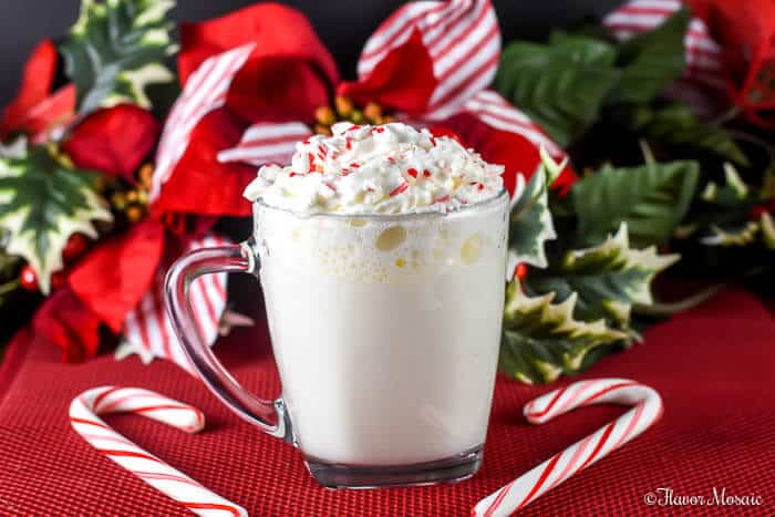 Peppermint White Hot Chocolate - Flavor Mosaic