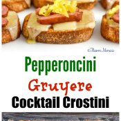 Pepperoncini Gruyere Cocktail Crostini