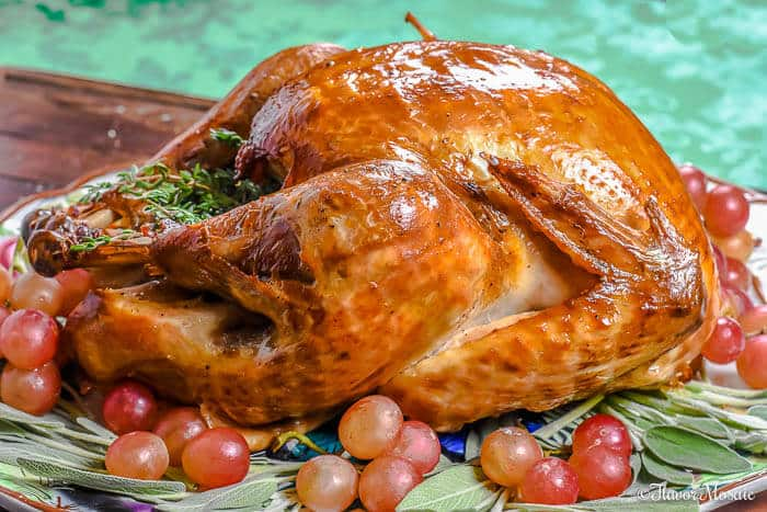 Roast Turkey with Apple Cider Brine - Flavor Mosaic
