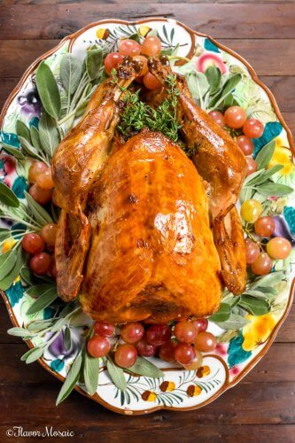 Roast Turkey with Apple Cider Brine