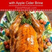 Roast Turkey with Apple Cider Brine Pin Red Label pin