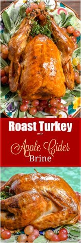 Roast Turkey with an Apple Cider Brine - Flavor Mosaic