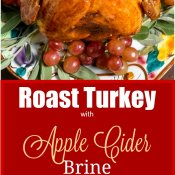 Roast Turkey with an Apple Cider Brine - Flavor Mosaic