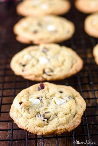 White Chocolate Cranberry Cookies Flavor Mosaic