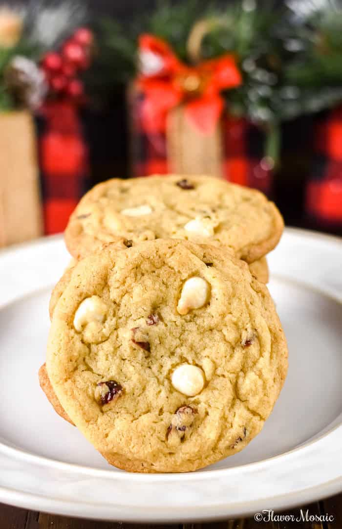 White Chocolate Cranberry Cookies by Flavor Mosaic