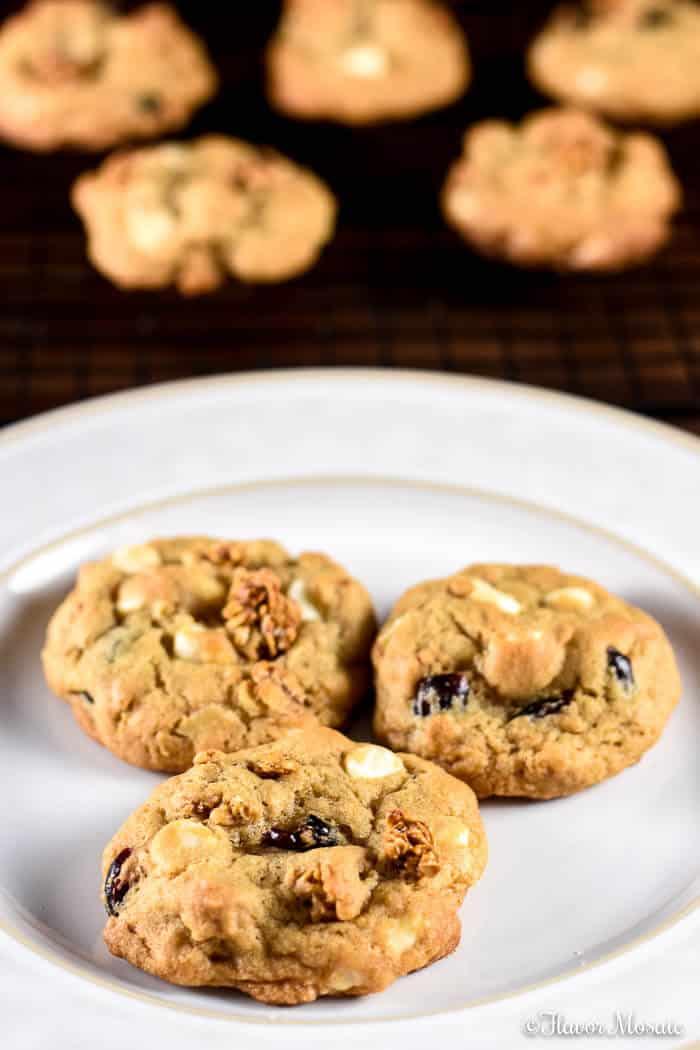 White Chocolate Cranberry Granola Cookies