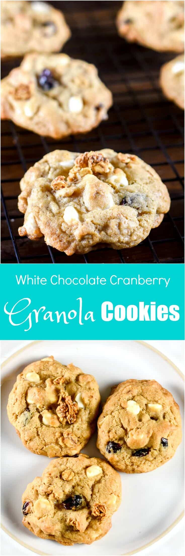 White Chocolate Cranberry Granola Cookies by Flavor Mosaic
