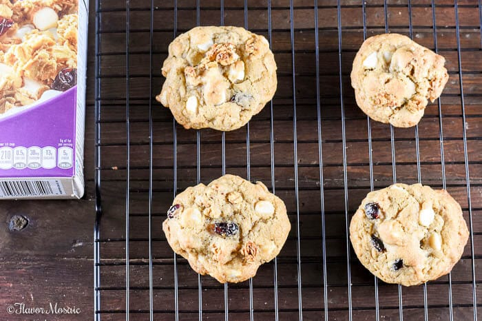 White Chocolate Cranberry Granola Cookies