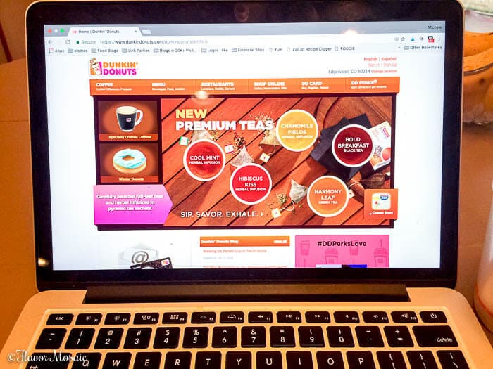 Dunkin Donuts Premium Hot Tea And Herbal Infusions Flavor Mosaic