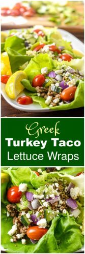 Greek Turkey Taco Lettuce Wraps by Flavor Mosaic