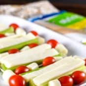String Cheese with Celery and Tomatoes