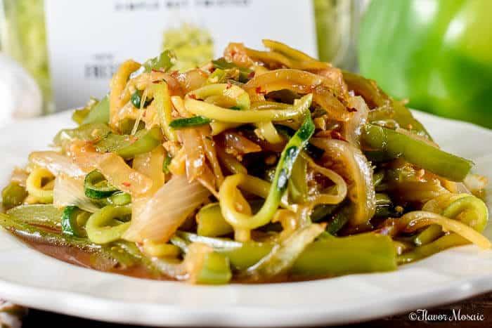 Stir Fry Zucchini Noodles