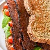 Vegan Bacon Lettuce Tomato Sandwich (BLT)