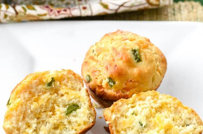 Irish Soda Bread Muffins with Cheddar and Jalapenos