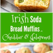 Irish Soda Bread Muffins with Cheddar and Jalapeno