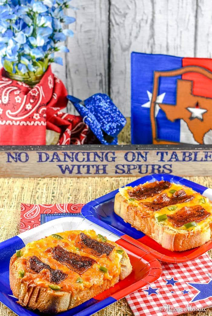 Spicy Bacon and Jalapenos on Texas Toast Cheesy Bread