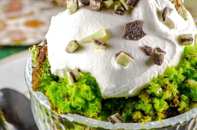 St Patrick's Day Chocolate Mint Trifle
