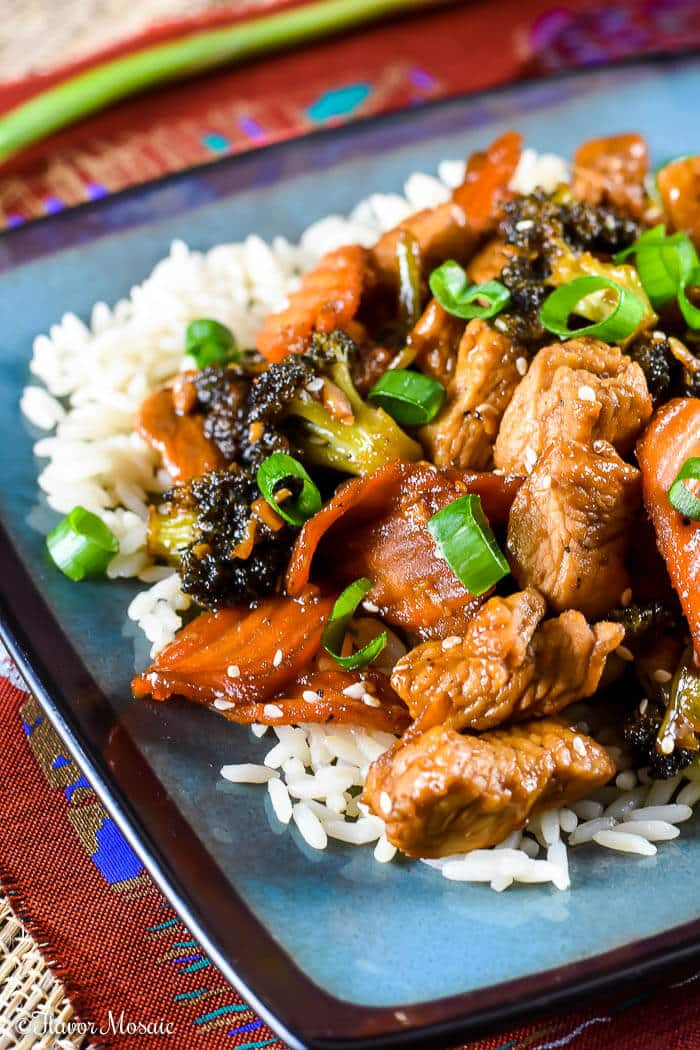 Turkey Stir Fry with Sesame Ginger Dressing